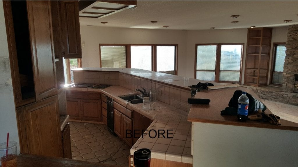 El Dorado County kitchen remodel - before