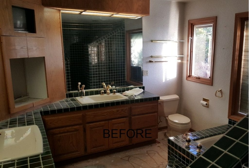 El Dorado County Bathroom Remodel - before